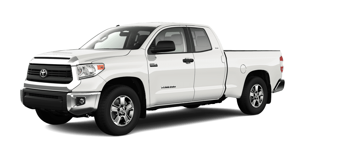 A white Toyota Tundra truck for sale at Lloydminster's nearby Toyota dealership, Rainbow Toyota.